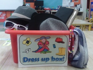 Our Dress up box! Ready to be used!